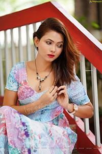 Pranita Waghchoure in Pink Printed Wrap Dress
