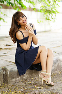 Supriya Keshri in Navy Blue Dress