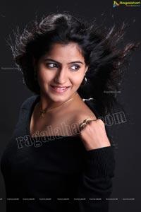 Tanusha in Black Dress