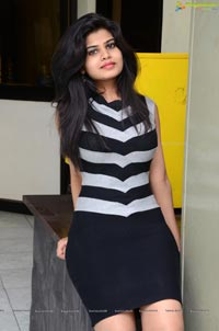 Alekhya in Striped Dress