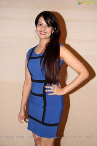 Saloni Aswani in Blue Dresss