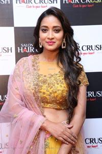 Bhanu Sree at Salon Hair Crush Launch