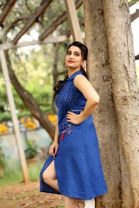 Manjusha at Aswathama Trailer Launch