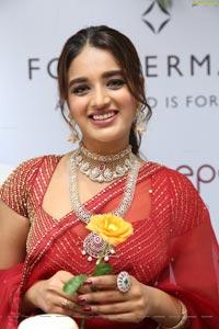 Nidhhi Agerwal at Sri Krishna Silks Launch