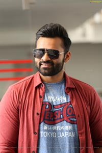 Sai Dharam Tej at Prati Roju Pandage Interview