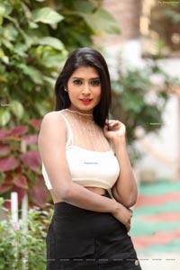 Sanjana Choudhary at Bomma Adhirindi Movie Interview