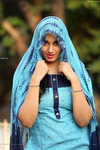 Akhila Ram in Blue Churidar Exclusive Photo Shoot