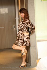 Saloni Aswani in Cheetah Print Dress Exclusive