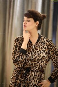 Saloni Aswani in Cheetah Print Dress Exclusive