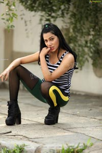 Tueeshaa in Black & White Striped Tank Top Exclusive Shoot