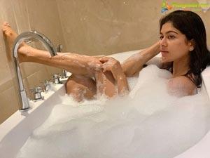 Akshatha Srinivas Taking Bubble Bath