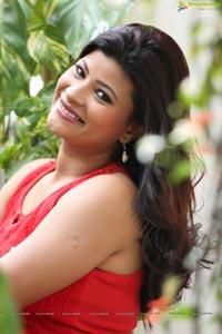 Veena Vijender in Red Dress