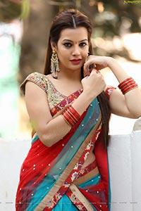 Diksha Panth in Half Saree