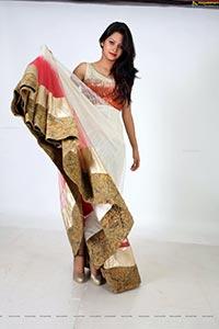 Monika Singh in White Dress