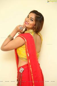 Ashwini in Red Saree