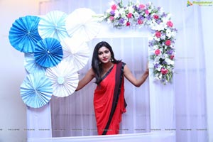 Sai Akshatha Red Saree