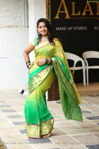 Karuunaa Bhushan at Alankar Makeup Studio