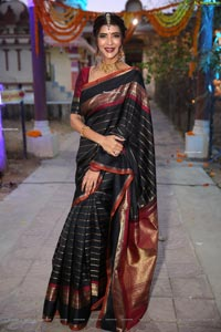Manchu Lakshmi at Gudi Sambaralu at Dharampuri Kshetram
