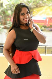 Meghana Chowdary at Hello Madam First Look Launch