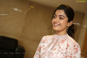 Rashmika Mandanna At Bheeshma Movie Success Meet Hd Photo Gallery