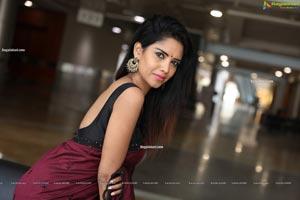 Anika Prem in Gorgeous Red Saree