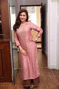 Harshada Patil in Pink Embellished Kurta