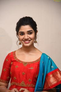 Krithi Shetty at Uppena Movie Success Meet