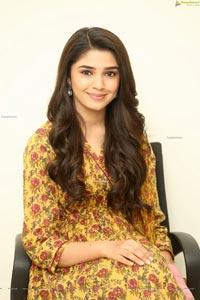 Krithi Shetty at Uppena Movie Interview