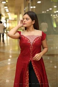 Kusumm in Red Fashionable Front Slit Kurti
