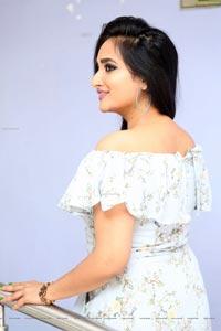 Madhu Krishnan in High Low Hem Ruffle Dress