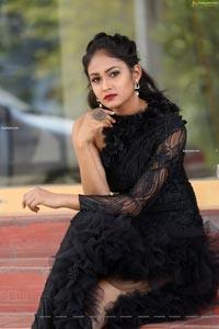 Maheshwari Vaddi at Bazaar Rowdy Movie Poster Launch
