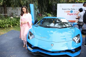Malvika Sharma at Cancer Awareness Super Car Rally
