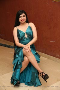 Selvin Batada in Dark Turquoise Spaghetti Straps Satin Dress