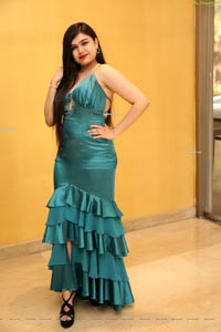 Selvin Batada in Dark Turquoise Spaghetti Straps Satin Dress