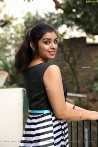 Shrithi Sharma in Black and White Stripes Mini Dress