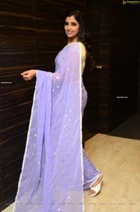 Anchor Syamala in Lavender Saree