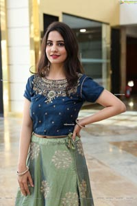 Tejal Tammali in Mint Green Embellished Lehenga