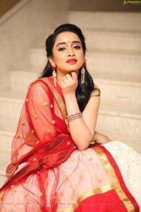 Vindhya Vishaka at Radhakrishna Movie Pre-Release Event