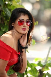 Aishwarya T Reddy in Red Bodycon Mini Dress Exclusive
