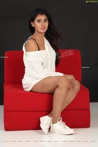 Aishwarya T Reddy in White Button-Down Shirt