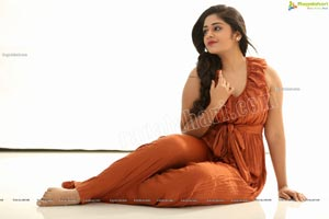 Deepa Umapathy in Rust Pleated Knot-Front Jumpsuit