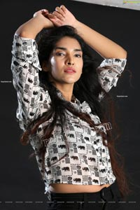 Supraja Narayan in Black and White Elephant Print Shirt