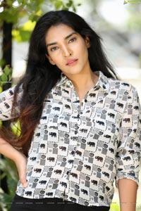 Supraja Narayan in Black and White Elephant Print Shirt