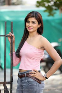 Sweta Singh in Baby Pink One Shoulder Top and Jeans