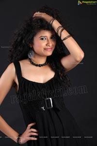 Soumya Sukumar in Black Frock