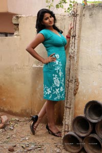 Tanusha in Blue Skirt