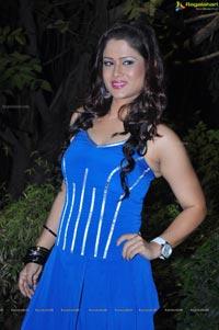 Shilpa Chakravarthy in Blue Dress