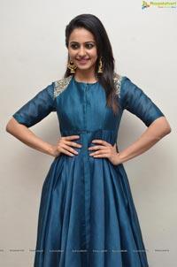 Rakul Preet Singh in Blue Dress
