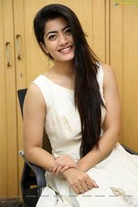 Rashmika Mandanna at Chalo Interview