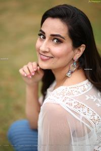 Manjusha @ Disco Raja 3rd Song Launch